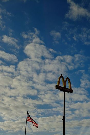 Merica.. Flag Cloud - Sky Patriotism Sky Day Outdoors No People McDonald's MERICA!! Diet & Fitness Quickie  Beauty In Nature HDR Obesity USA Reference Hahaha Dumb  Tacobell Large Number 1 With A Diet Coke Fastfood