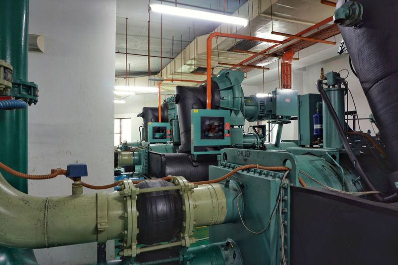 Manufacturing machinery in factory