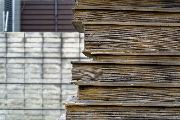 Backgrounds Brown Building Exterior Built Structure Close-up Day Full Frame No People Old Outdoors Part Of Pattern Plank Stack Textured  Wall Wall - Building Feature
