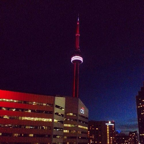 I can see the CN tower from my room! Tourist Toronto Jjc