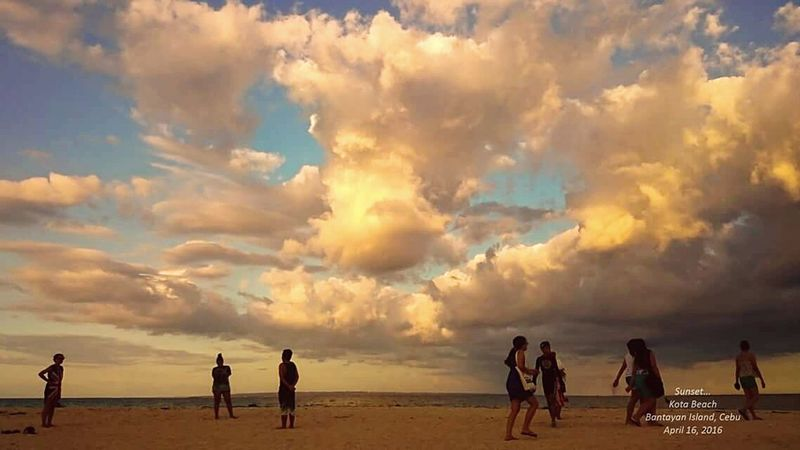 Sunset Viewing in Kota Beach Bantayan Island Cebu ⛅ Taking Photos People Of The Oceans Enjoying Life Outdoor Photography Island Life Philippines Travel Photography Fresh On Eyeem  Beach Bummin Candid Photography Nature Photography Nature Clouds Sky Sea And Sky Sunset Feel The Journey Eyeem Philippines 43 Golden Moments Colour Of Life