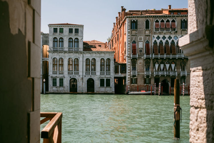 Venice Built Structure Architecture Water Building Exterior Canal Waterfront Building Travel Destinations Nature Day City Travel Sky Tourism Transportation Outdoors Nautical Vessel No People Gondola - Traditional Boat Wooden Post