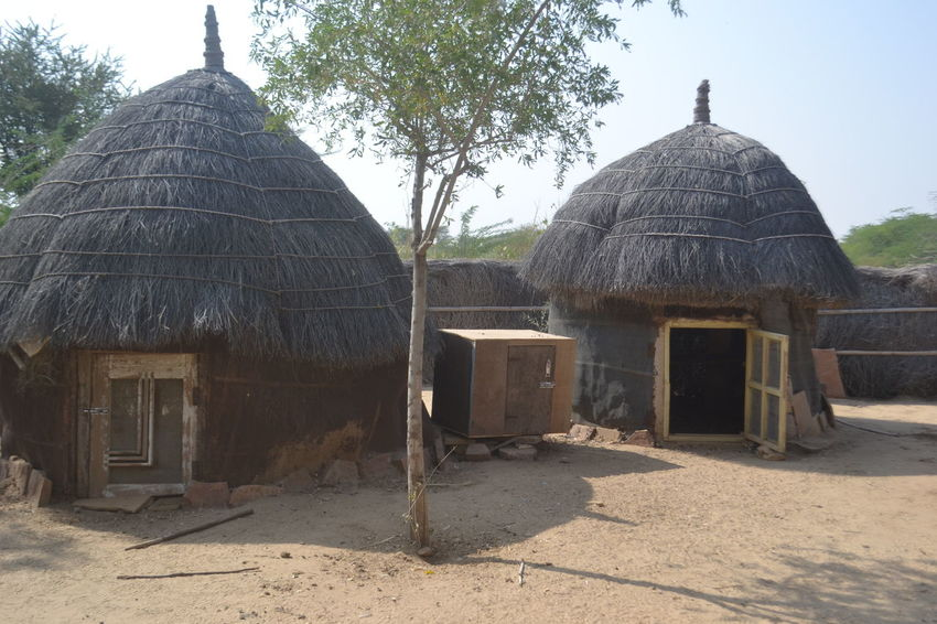 Village House In India Architecture Building Exterior Ethnic House Mudhouse No People Rajasthan Spirituality