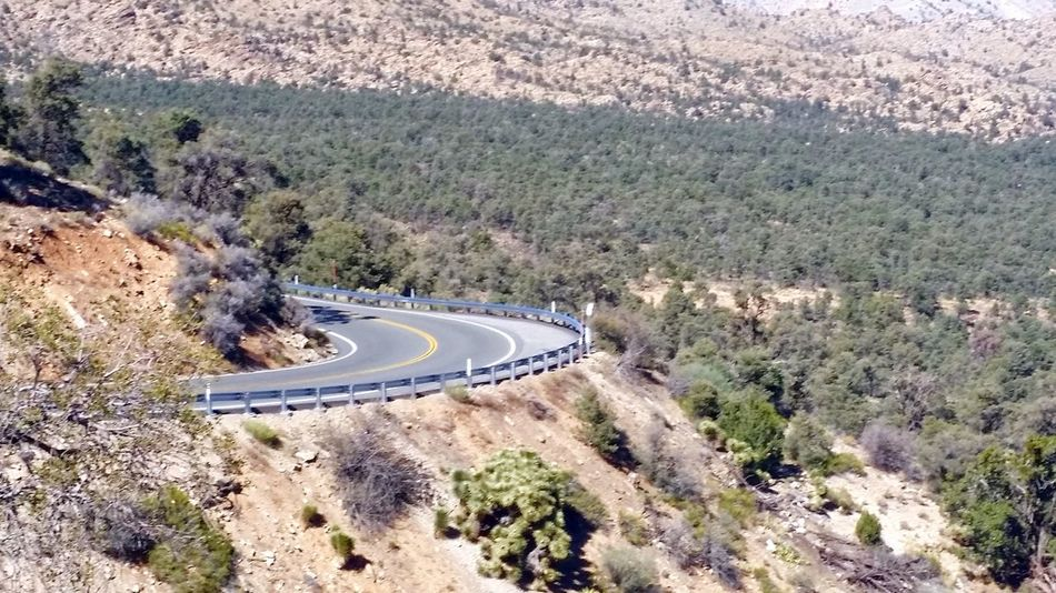 High Angle View Road Mountain Tree Landscape Transportation Day Winding Road Outdoors Curve No People Scenics Nature Beauty In Nature Sommergefühle 100 Days Of Summer Tranquil Scene Tranquility Highway 18 Lucerne Valley California Perspectives On Nature