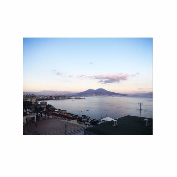 My place💙 Myplace Napoliphotoproject City Napoli Water Sea Sky Beauty In Nature Architecture Scenics - Nature Cloud - Sky Nature Beach Auto Post Production Filter Horizon Horizon Over Water No People Tranquil Scene Cityscape