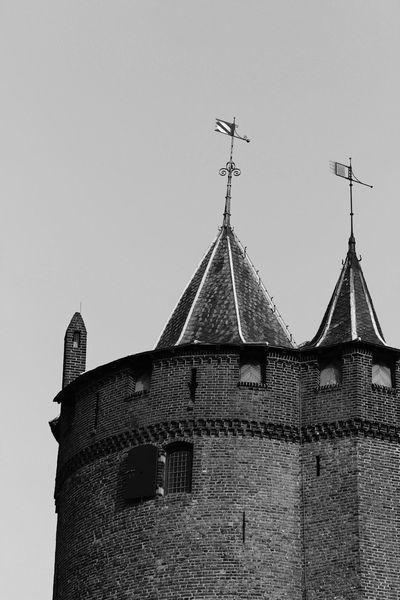 Waiting for Rapunzel Blackandwhite Monochrome Castle Tower Muiderslot Dutch Landscape