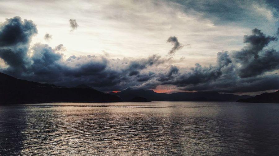 Burning Dawn Dramatic Sky Landscape Mountain Cloud - Sky Water First Eyeem Photo