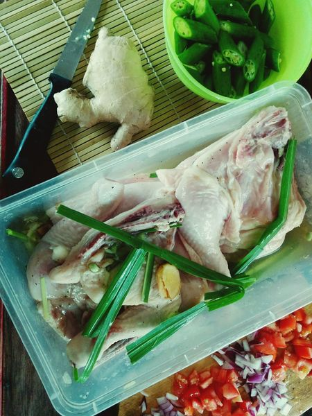 Okra Food Preparation Chicken Thighs Lemongrass Kitchen