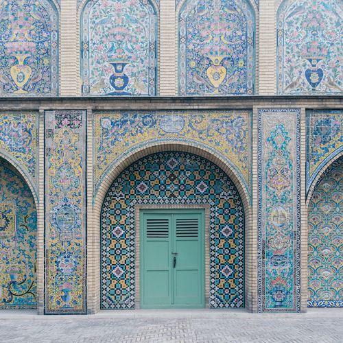 Ornate entrance of building
