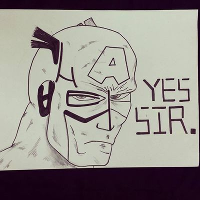그림 그림스타그램 Illust Illustagram Illustration 낙서 Pen 펜 Draw Drawing Marvel Avengers Captinamerica 마블 어벤져스 캡틴아메리카 한글 Korean