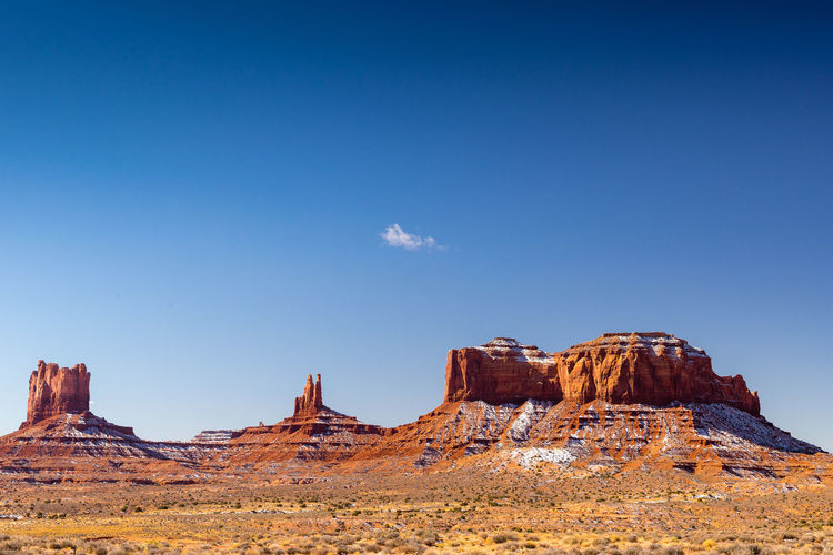 Monument Valley Beauty In Nature Clear Sky Day Desert Landscape Nature Outdoors Rock - Object Rock Formation Scenics Sky The Natural World Travel Destinations