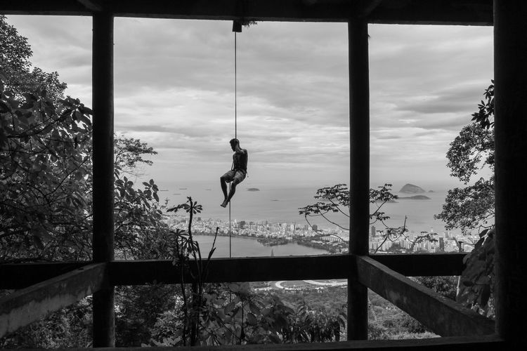 abseiling @