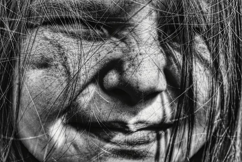 Portrait Portrait Of A Girl Close Up Portrait Black And White Squinting Squintyeyes Black And White Photography Black And White Portrait People And Places Monochrome Photography Black And White Friday The Portraitist - 2018 EyeEm Awards