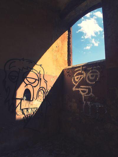 EyeEm Selects Faces Graffiti Abstract Urbex Sky Shadowplay Shadows & Lights Interior