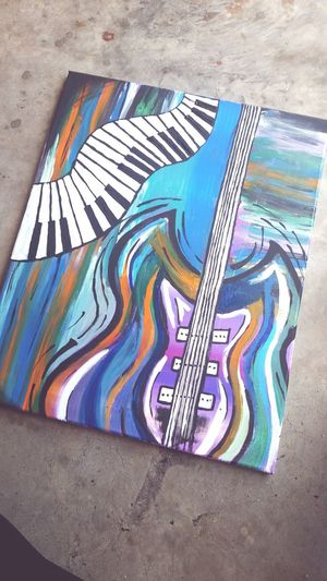 Acrylic Painting Guitar Creativity Guitar Love Messiness