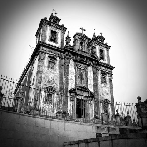 BeW Architecture Belief Black And White Building Building Exterior Built Structure Clear Sky Day Gothic Style History Low Angle View Nature No People Outdoors Place Of Worship Religion Sky Spirituality The Past Vignette