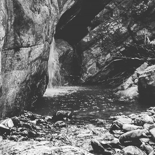 Water from the Rock Adelboden Switzerland Waterfall Natural Pool Nature Untouched Hiking Bw Bw_lover Blackandwhite Blackandwhitephotography Bw_switzerland