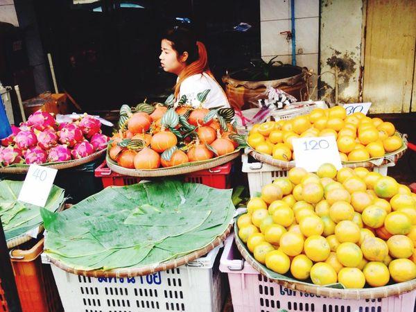 Fruits Shopkeeper Fresh Winter December in Bangkok Streetphotography Street Photography Street Thailand