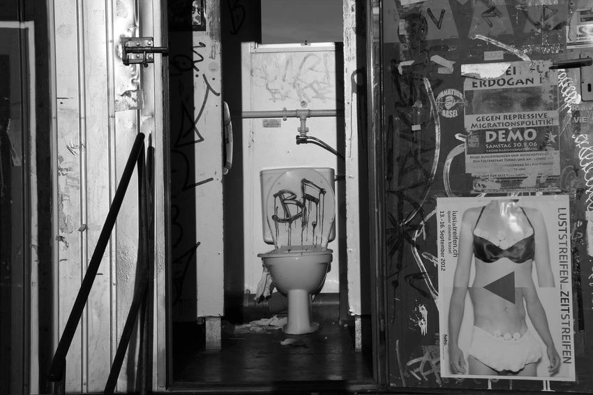 Toilet Blackandwhite Urban Industrial Basel Mybusiness Free Go Ahead Have A Seat Public Toilet Mobile Toilet When Nature Calls Let It Flow Bestoftheday EyeEm Best Shots