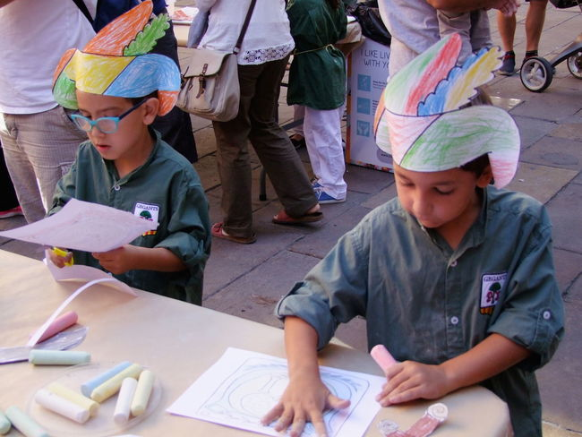 Two Spanish Boys at Festival Art Art Attack Barcelona City Composition Cooperation Creativity Drawing - Activity Festival Full Frame Fun No Incidental People Outdoor Photography Paper Paper Hats Spaın Teamwork Togetherness Two Boys Working