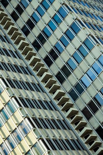 Full frame shot of skyscraper