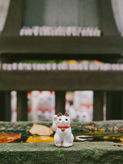 Lucky cats statue inside gotokuji temple /neko temple in tokyo, japan.