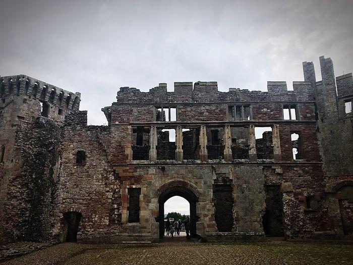 Ruins Raglan Castle Welsh Castle Architecture Built Structure Building Exterior History The Past Sky Building Old Arch Ancient Old Ruin