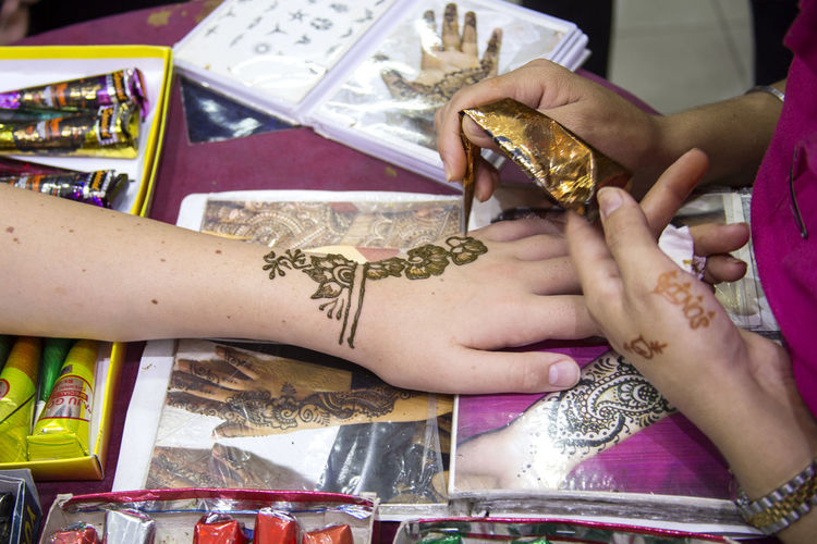 Art Culture Draving Fashionable Hands Hands At Work Henna Art Henna Tattoo Indian Indian Culture