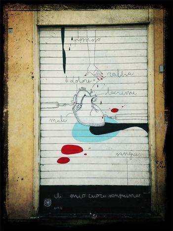 Hanging Out Street Art Heart Having A Walk