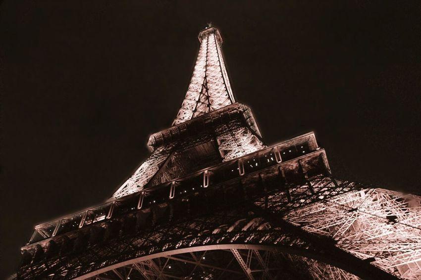 Paris my love Illuminated Eifel Tower Architecture Travel Destinations History Paris, France  Tower Night
