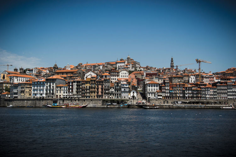 Porto, Portugal Douro  Porto Portugal Architecture Building Exterior Built Structure City Cityscape Clear Sky Day Nautical Vessel No People Outdoors Residential Building River Sky Town Water Waterfront