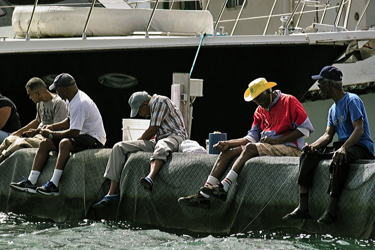 Having a break near the floating market, Willemstad, Curaçao Adult Adults Only Chair Curacao (willemstad) Day Fishermen Harbour Having A Break Fishing Nautical Vessel Only Men Outdoors People Seat Sitting