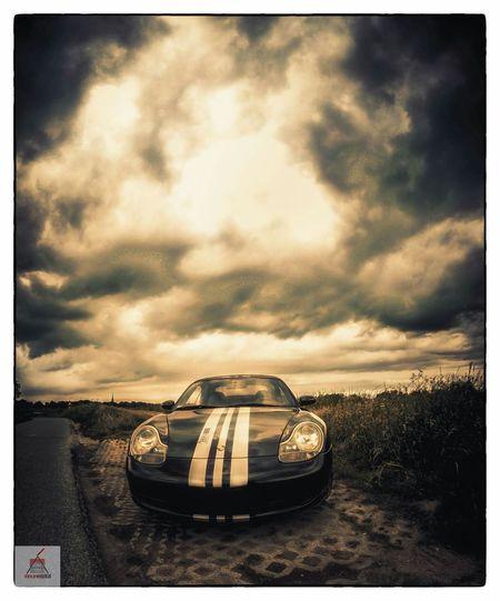 Porsche 996 Carrera Sportscar Clouds Autumn Sepia Fall Blackandwhite Canon5dmarkiii