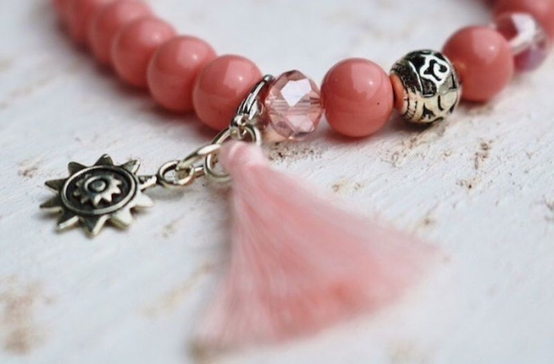 Pink jewellery Bracelette Jewelry Indoors  Necklace Close-up Table Fashion Human Body Part People Locket Human Hand Day