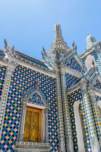Grand Palace or Wat Phra Kaeo is amazing temple in Thailand Amazing; Ancient; Architecture; Asia; Bangkok; Buddha; Culture; Decoration; Emerald; Exterior; Famous; Gold; Grand; History; Kingdom; Landmark; Pakoda; Palace; Religion; Royal; Temple; Thai Art; Thailand Unseen; Wat;
