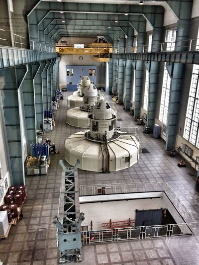 Ardnacrusha Power Station Power Station Indoors  Industry Built Structure Architecture Factory Business Metal Day Machinery Industrial Building  Flooring High Angle View