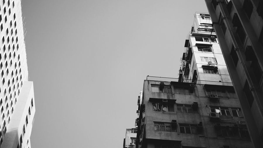 Blackandwhite Building Exterior Architecture Built Structure Sky Building Clear Sky Low Angle View