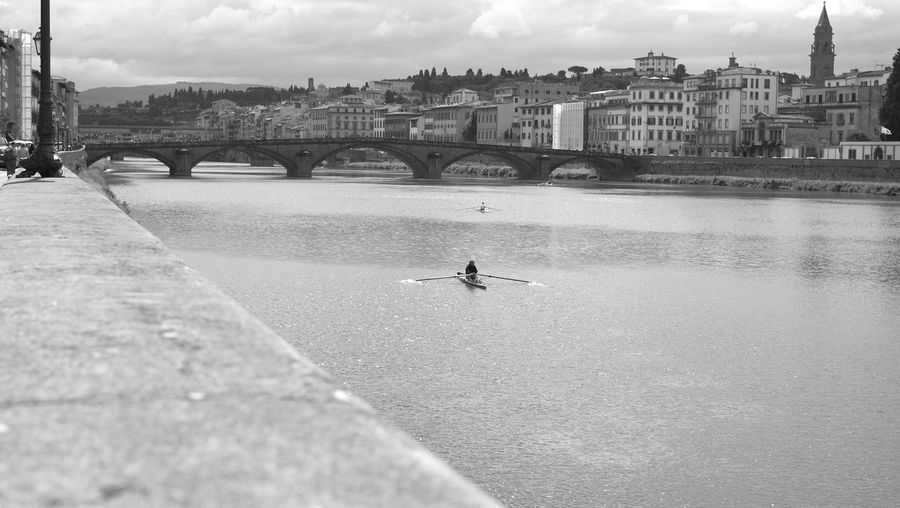 Arno River Florence Italy Animal Arch Arch Bridge Architecture Bridge Bridge - Man Made Structure Building Exterior Built Structure City Cloud - Sky Connection Day Lungarno Nature Nautical Vessel Outdoors River Sky Transportation Water Waterfront