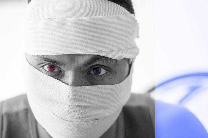 Adult Adults Only Close-up Day Doctor  Focus On Foreground Front View Headshot Healthcare And Medicine Human Body Part Human Face Indoors  Looking At Camera One Person People Portrait Real People Surgical Cap Surgical Mask Young Adult
