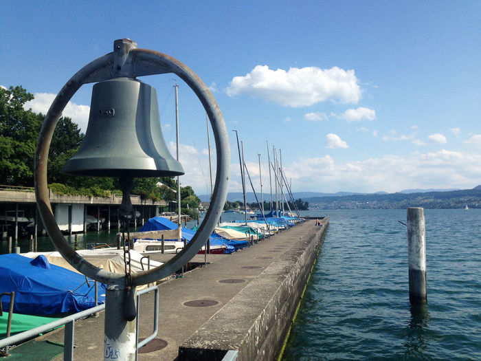 Bell on pier