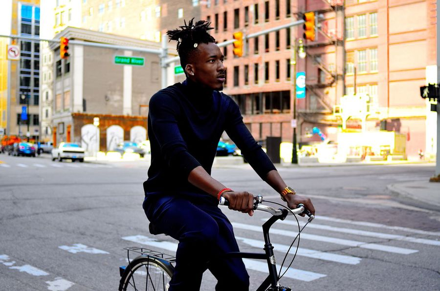 CyclingUnites Detroit Bikes (Instagram: @iamjosway) City Bicycle One Man Only Cycling Street Streetphotography Street Photography Black Model Modeling Models Detroit Michigan Adventure Color Colorful Young Adult Lifestyles Men Portraits Portrait City Male Bikes Traveling Home For The Holidays Adapted To The City The Street Photographer - 2017 EyeEm Awards The Portraitist - 2017 EyeEm Awards Be. Ready. This Is Masculinity