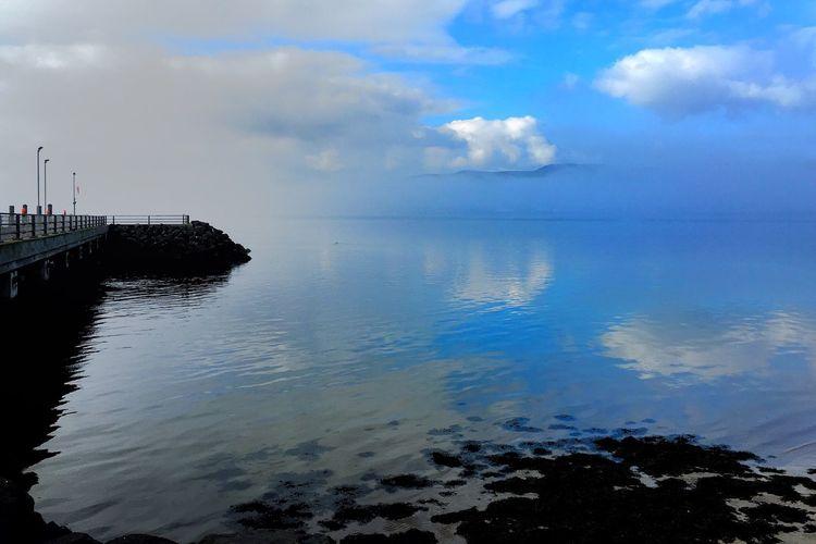 Blue Sky Clouds And Sky Fog Sea Sea And Sky Pier Dreamy