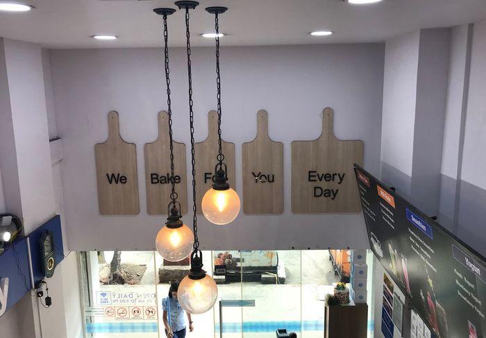 Cafe Lighting Equipment Indoors  Illuminated Hanging Text Ceiling Pendant Light