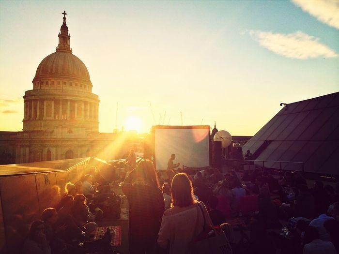 Open air cinema, The Breakfast Club Open Air Cinema London Roof Terrace St Paul