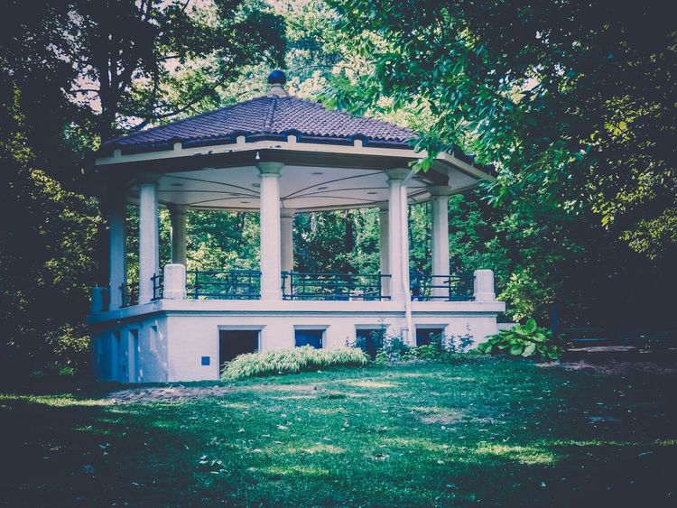 (TBT) 2010 - Cincinnati. Bandstand in Burnet Woods. Picoftheday Photooftheday Throwbackthursday  TBT  Plant Architecture Built Structure Tree Day Building EyeEmNewHere Nature Park EyeEmNewHere