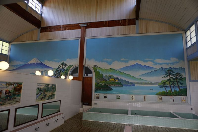 Wall Art Light And Shadow Architecture Traditional Sento Public Bathhouse Architecture Indoors  No People