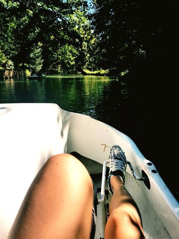 Water Vacations Human Leg One Person Outdoors Summer Pedalo Jambes Girls Young Adult Human Body Part