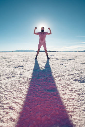 Saltejat De Bolets #nyam Copy Space HERO High Hot Man Stripes Arctic Argentina Bathing Suit  Beard Cold Day Flat Halo Hipster Male One Person Salinas Grandes Shadow Snow Standing Surreal Trippy Vintage