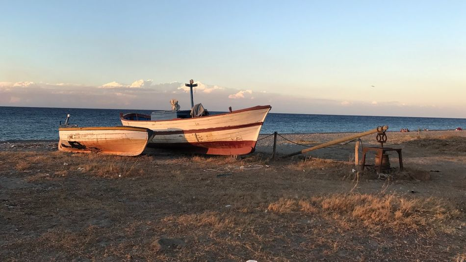 Sant'angelo EyeEm Selects Water Sea Sky Nautical Vessel Beach Transportation No People Sand Nature Tranquil Scene Horizon Tranquility
