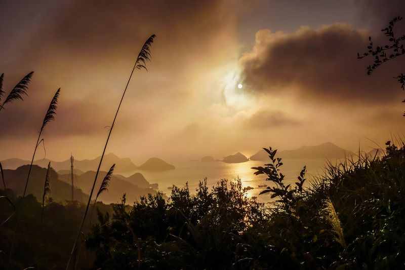Cat Ba, Vietnam Beauty In Nature Cloud - Sky Landscape Mountain Nature Outdoors Scenics Silhouette Sky Sunset Tranquil Scene EyeEmNewHere